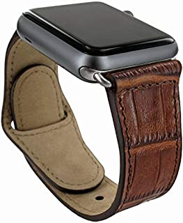 Piel Frama Armband Case for Apple Watch 38 mm - Crocodile Brown