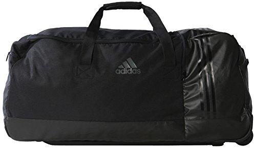 adidas Sporttasche 3 Stripes Performance Teambag Wheels, Black/Vista Grey, 80 x 36 x 35.5 cm