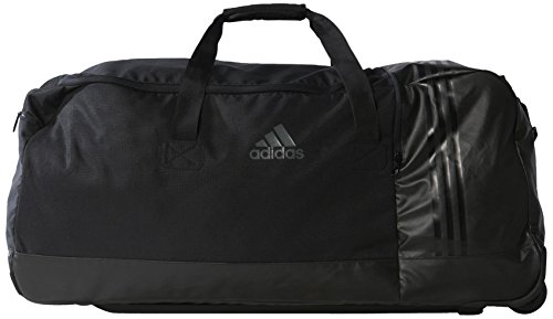adidas Sporttasche 3 Stripes Performance Teambag Wheels, Black/Vista Grey, 80 x 36 x 35.5 cm