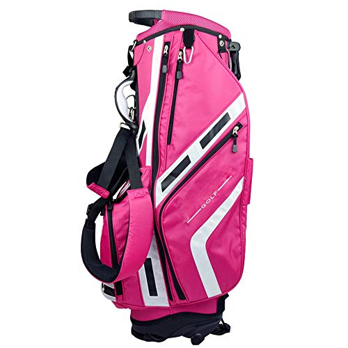 Jtoony Golftasche Rosa Golf Stand Bag 11-Wege-Top Golf Travel Case Organizer Golf Sports Accessoires Stand Bag for Frauen Mädchen Golfbags (Color : Pink, Size : As Shown)