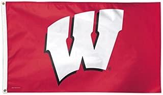 NCAA Wisconsin Badgers Deluxe 3'x5' Premium Fabric Flag with Grommets