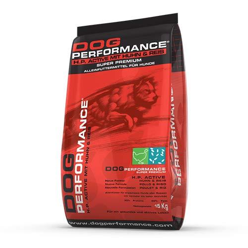 DOG Performance Crocchette per Cani Super Premium Adult Active H.P. Alimento ad Alta Energia per Cani Sportivi, sottoposti ad Intenso Lavoro Fisico o a climi rigidi - Sacco da 15 kg
