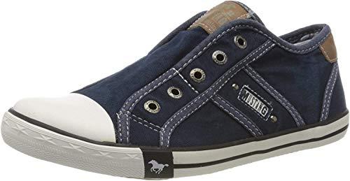MUSTANG Damen 1099-401 Slip On Sneaker, Blau (Dunkelblau 800), 40 EU