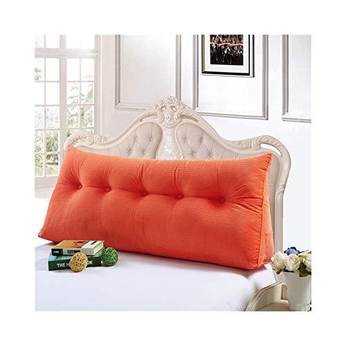 MH-Cushions Cojines, Respaldo Tridimensional De Algodón PP, Doble Bolsa Suave Almohada Triangular Cojín del Sofá Almohada Extraíble Y Lavable (Color : Orange, Size : 60x50x20cm)
