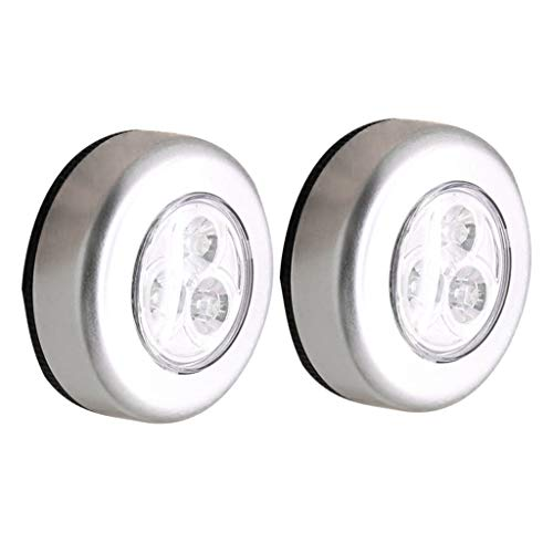 Amuzocity 2 Pezzi LED Touch Push On Off Light Wireless Night Light Lampada a Basso Consumo Bianca