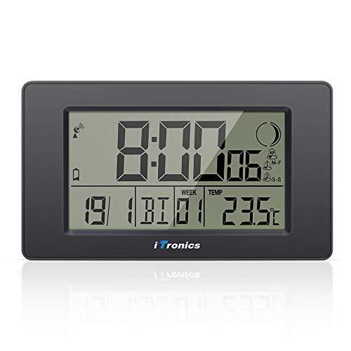 iTronics Orologio Radio da Parete Digitale con Indicatore di Temperatura Sveglia Elettronica...