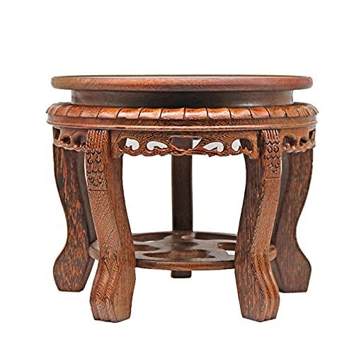 YUXI8541NO Soporte de exhibición de madera con base de ala de pollo, pedestal de madera para bonsai de piedra extraña de palé, jarrón de madera, adornos de Buda, soporte decorativo (tamaño: mediano)