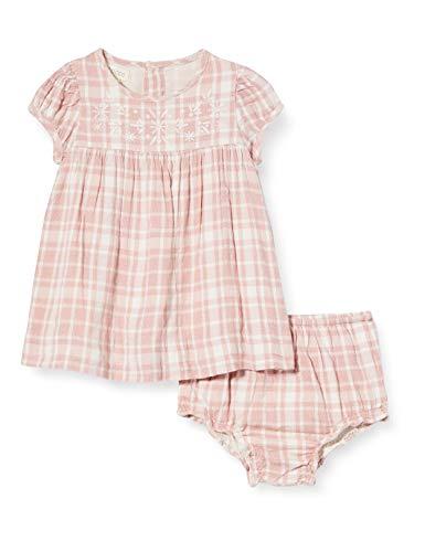 Gocco Dobby Bordado Vestido, Rosa (Rosa Viejo S07vvtca202pw), 62 (Tamaño del Fabricante: T: 3/6) para Bebés