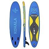 KOHALA Tabla de Paddle Surf Drifter Color Azul - Tipo Beginner - Capacidad Máxima 100 kg - Aletas 3 (2+ 1)