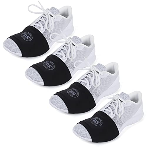 THE DANCESOCKS - 100% USA Made Over Sneaker Dance Socks, Smooth Floors (4 Pairs/Black)