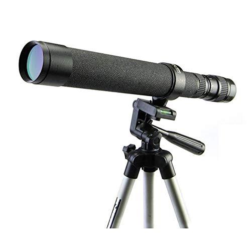 XUMENG Telescopio Terrestre 8-24X40 Zoom Profesional Monocular Impermeable Lente Óptica Recubierta FMC Zoom Spotting Scope Spotting Scope con Trípode Y Bolso para Observación De Aves Wildlife Caza