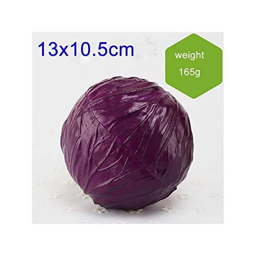 Lou Chapman 1Pcs Artificial Kohl Eva Kunststoff-Shop Dekoration Mini gefälschtes Gemüse Hauptdekor Künstliches Obst und Gemüse Props, Lila