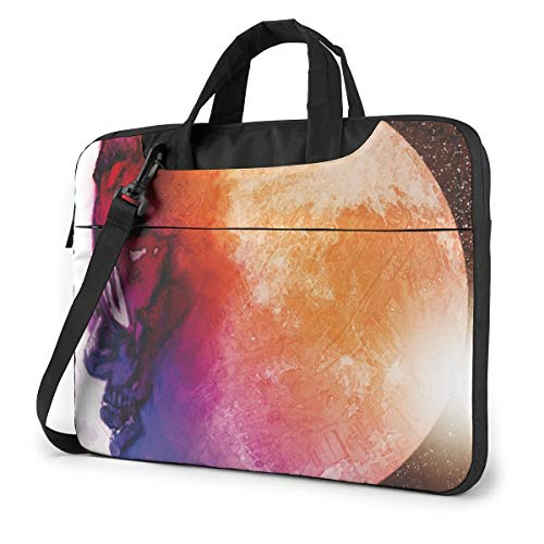 Vsldfjc Music Kid Cudi Stylish Customized Laptop Shoulder Bag, Suitable for 13-15.6 inch MacBook Pro/Air and Most Other Laptops, Portable Laptop Bags, Briefcase Protective Covers