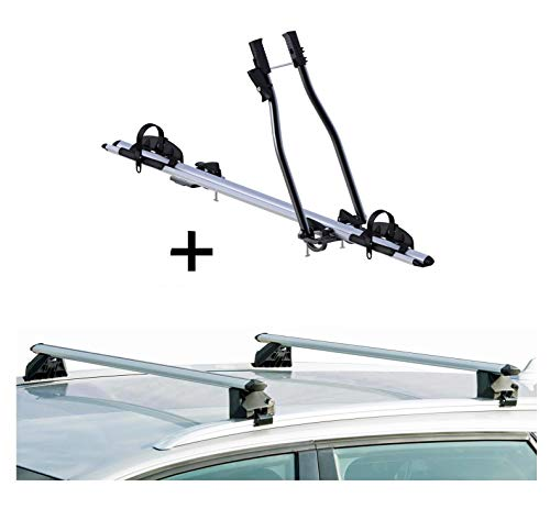 VDP - Portabici SAGITTAR + portapacchi CRV107A compatibile con Seat Leon III Kombi 5 porte dal 2014 in poi