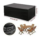 XiaoOu Waterproof Cover 11 Sizes Outdoor Furniture Dustproof Cover for Rattan Table Cube Chair Sofa Waterproof Rain Garden...