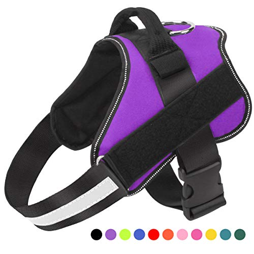 Bolux Dog Harness, No-Pull Reflective Breathable Adjustable Pet Vest with Handle for Outdoor