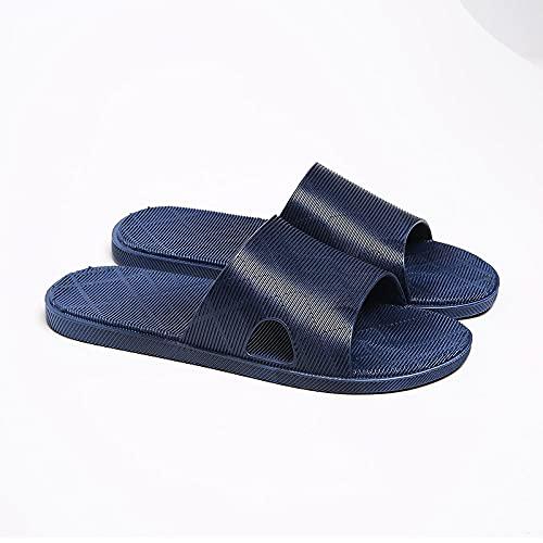 JFHZC Vapatillas de Ducha Verano,Zapatillas Antideslizantes de baño de PVC con Masaje, Zapatillas de Interior para el hogar, Sandalias de Pareja de Verano-Navy_39 / 40EU