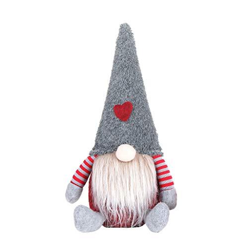 Adornos De Navidad, Nordic GNOME Decoración del día de Navidad, Figurillas de Tela para Mesa Arbol de Navidad Adornos Decoración Navideña Accesorios Muñecas