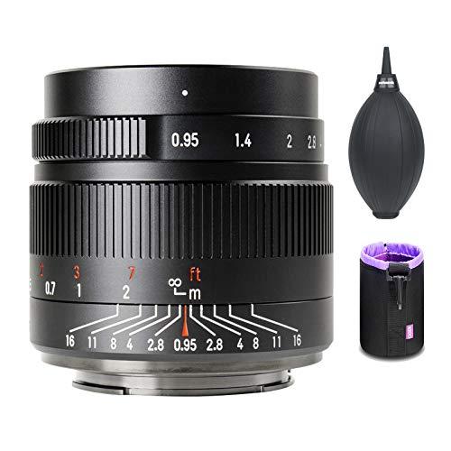 7artisans 35mm F0.95 Objektiv für Fuji X-Mount Kameras X-Mount-Kameras XE1 XE2 XE3 XT1 XT2 XT3 XT4 XT10 XT20 XT30 XPRO1 XPRO2 XPRO3