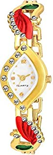 New Raiyaraj Embroidery Analogue Gold Dial Watch for Women and Girls