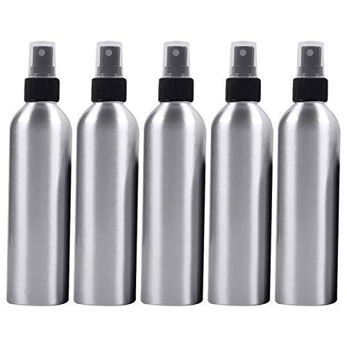 Beauté et soins personnels 5 bouteilles en verre rechargeables fines de pulvérisateur de PCS bouteille en aluminium, 250ml Bouteille de cosmétiques (Couleur : Black)