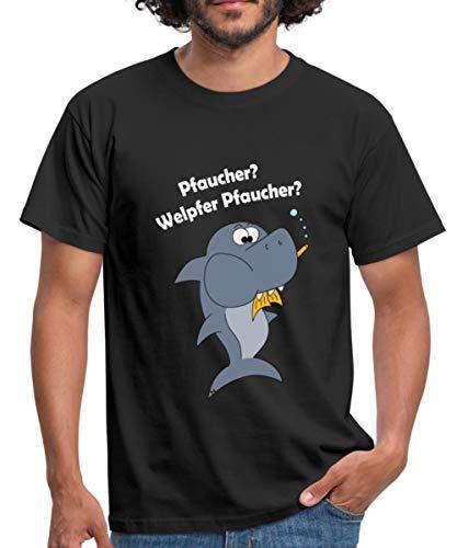 Taucher Lustig Tauchen Fisch Pfaucher Witziges Männer T-Shirt, 4XL, Schwarz