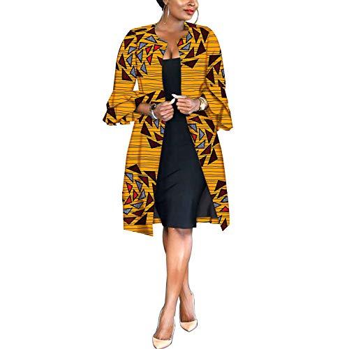 African Women Coat Ankara Print Long Jacket Tops Wax Dashiki Clothes 649 L