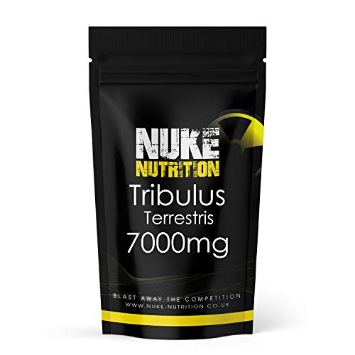 Nuke Nutrition Tribulus Terrestris Extract Capsules | Test Booster for Men | 95% Saponin 7000mg Tablets | Test Supplements for Men | Tribulus Terrestris Capsules | 180 Capsules | Vegan Friendly