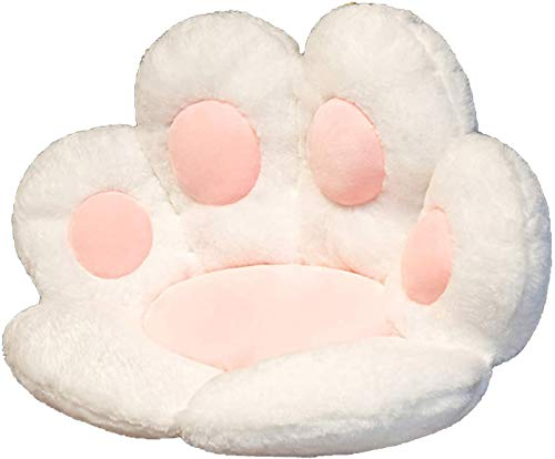 AOXING Cute Seat Cushion Cat Paw Lazy Sofa Office Seat Cushion, Warm Skin-Friendly Floor Mat Bear's Paw Office Chair Cushion,Office Cozy Warm Seat Pillow,Plush Sofa Cushion Home Decoration (WH)