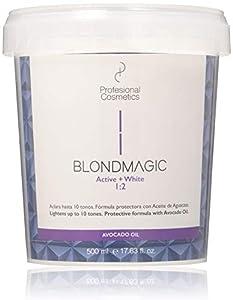 Profesional Cosmetics Blondmagic - Decolorante para el pelo con aceite de aguacate, 500 ml