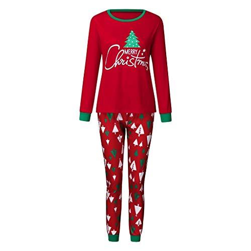 Keards Christmas Child Toon Yeti - Blusa + Pantalones Christmas Man Daddy Cartoon Muñeco de Nieve + Pantalones Xmas Family Ropa Pijamas Rojo XL