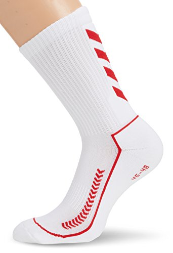 hummel Unisex Socken Advanced Indoor, white/true red, 41 - 45 ( 12 ), 21-058-9402_9402