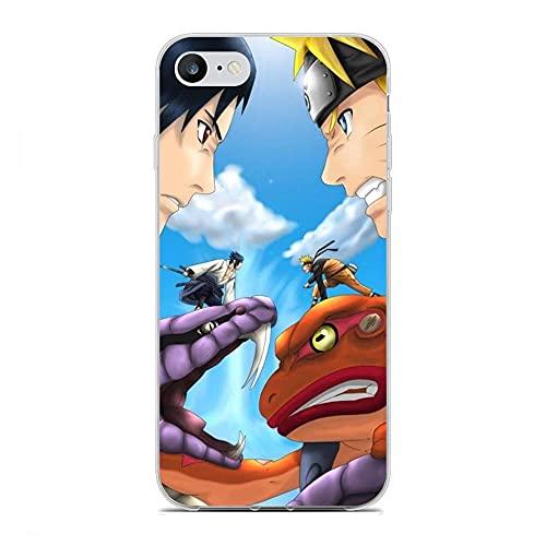 ZCEDCVRE Soft Clear Shockproof Thin Durable Flexible Case for Apple iPhone 7/8/SE 2020-Naruto-Sasuke Frog Snake Japan Anime 5