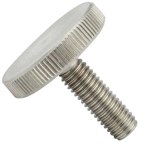 Rändelschrauben (niedrige Form) - M6x30 - (2 Stück) - DIN 653 - aus rostfreiem Edelstahl A1 VA -Niro - SC653   SC-Normteile®