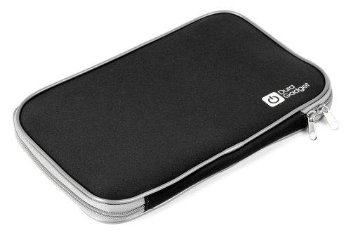 """DURAGADGET Pochette Housse Noire de Transport résistant à l'eau - Fermeture éclair - pour tablettes tactiles Auchan QILIVE 9.7 B600121 & 9.7R B600122 (Android 4.1.2, écran 9,7"""")"""