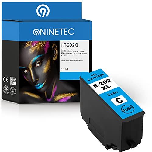 NINETEC Cartucho NT-202XL compatible con Epson 202XL 202 XL | para Expression Home XP-6000 XP-6005 XP-6100 XP-6105 | cian 11 ml XL