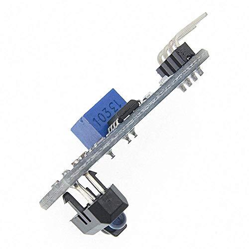 TCRT5000 Sensor reflectante infrarrojo Interruptor fotoeléctrico IR Módulo de pista de línea de barrera para placa de triodo de diodo Arduino 3.3v