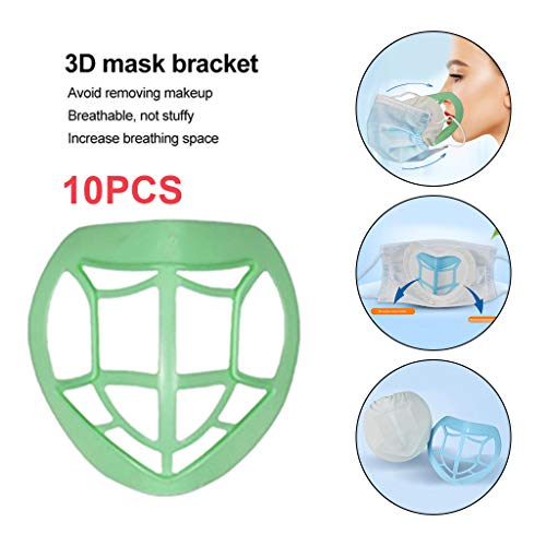 Gpure 10 Pcs 3D Bracket For Face Bandanas Comfortable Inner Support Frame Keep Fabric Off Mouth To Create Breathing Space Lipstick Protection Prevent Makeup Removal Holder Stand For Adult Kids