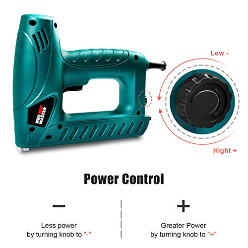 Electric Brad Nailer, NEU MASTER Staple Gun N6013 with Contact Safety and Power Adjustable Knob for Upholstery and...