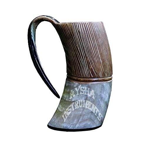 Taza de bar vikingo, hecha a mano con cuerno real, vino de cerveza natural, regalo de Navidad