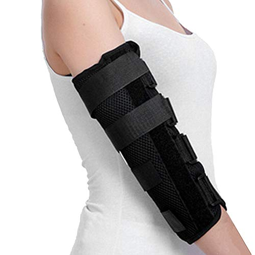 Ellenbogenorthese mit Kubitaltunnelsyndrom | Schiene zur Behandlung von Schmerzen durch Einklemmung des Ulnarnervs, Prävention überstreckter Ellbogen und Arm-Wegfahrsperre nach der Operation(L)
