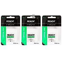 J&J REACH リーチ デンタルフロス 55ヤード(50.2m)×3個 (ワックス付きミント) 歯科医院取扱品