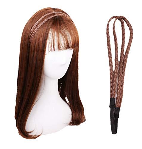 BONAMART Damen Mädchen Hippie Geflochten Doppelschicht Leder Stirnband Haarband