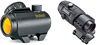 Bushnell Trophy TRS-25 Red Dot Sight Riflescope, 1x25mm, Black Optics, 3X Magnifier, Matte Black