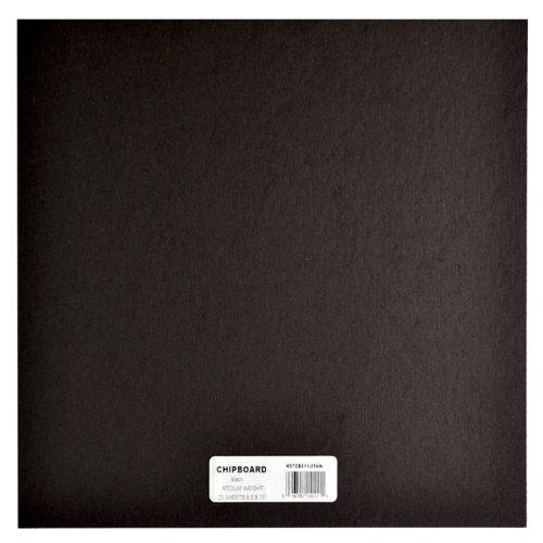 Grafix Pannello truciolare di Peso Medio, 30,5 x 30,5 cm, 25 Pezzi, Colore Nero