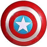 Getrichar Capitan America Scudo Suono e Luce Plastica Scudo Accessori 32 cm Palmare Film Versione Accessori Ragazzo Supereroe Costume