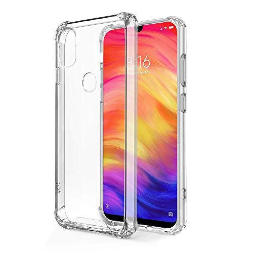 - Funda Anti-Shock Gel Transparente para XIAOMI REDMI Note 7 / Note 7 Pro, Ultra Fina 0,33mm, Esquinas Reforzadas, Silicona TPU de Alta Resistencia y Flexibilidad