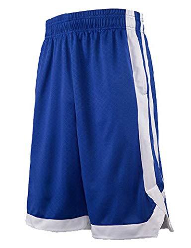 TopTie Basketball Shorts Trainingsshorts Herren mit Taschen Navyblau XL