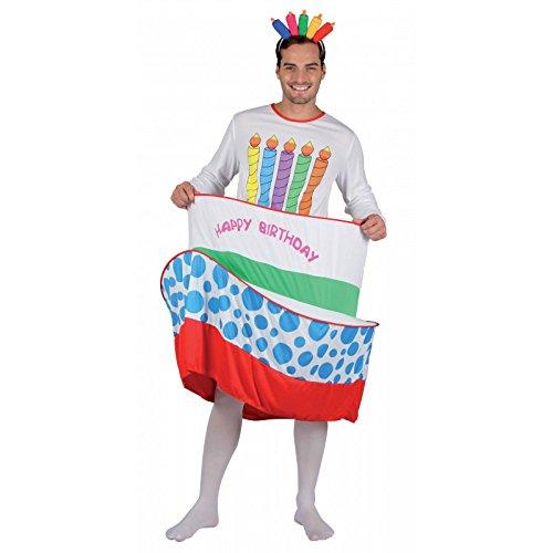 Unbekannt P'tit Clown 86898 Herren-Kostüm Erwachsene Geburtstagstorte Einheitsgröße Mehrfarbig
