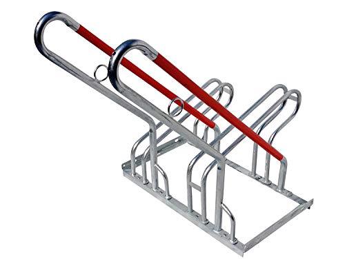 2er Fahrradständer Reihenparker Anlehnparker Anlehnbügel B-Ware mit Diebstahlsicherung